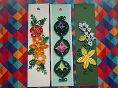 Marca-Página/Bookmarks (martinaquill) Tags: flowers flores feather bookmarks pena trabalhos filigree quilling marcapaginas filigrana