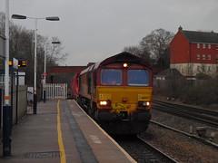 DBS 66007 @ Syston (Sim0nTrains Photos) Tags: shed dbs class66 ews mml diesellocomotive midlandmainline 66007 dbschenker 6d31 systonrailwaystation