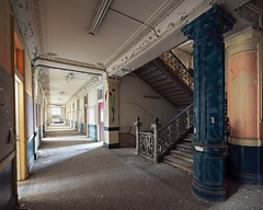 (Subversive Photography) Tags: abandoned college stairs university raw decay pillar corridor ornate derelict urbex 17mmtse danielbarter sonya7r