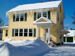 Our new home Winter 2015 (Beautification Syndrome) Tags: winter house snow home buffalo icicle icicles williamsville