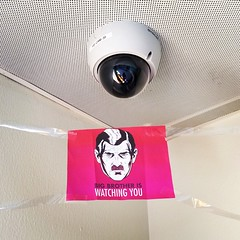 Big brother is watching you. (ToGa Wanderings) Tags: camera school square video student technology surveillance watching lofi cctv safety observe squareformat 1984 orwell record worry bigbrother privacy iphoneography instagramapp