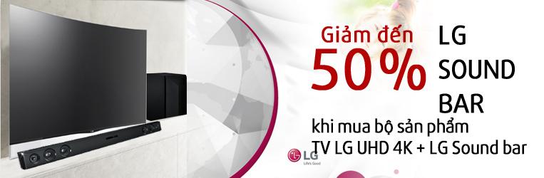 LG Sound bar giảm đến 50% khi mua bộ sản phẩm TV LG 4K và LG Sound bar