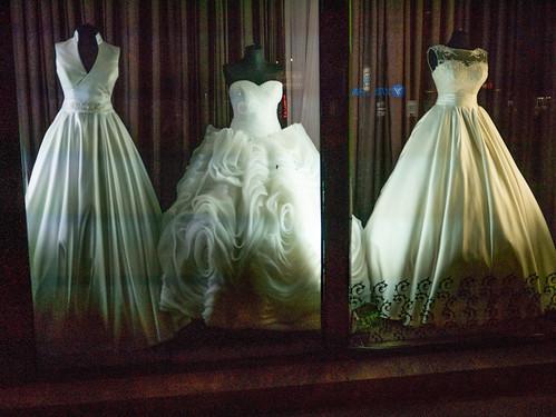 Wedding Dresses at Night