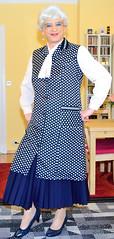 Ingrid022038 (ingrid_bach61) Tags: skirt mature button pleated kittel nylonoverall faltenrock bowblouse schleifenbluse durchgeknpft