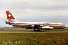 HB-ICE  CV-990A  Swissair (caz.caswell) Tags: heathrow lap coronado hounslow airliner lhr swissair convair londonheathrow turbofan londonairport cv990 hbice cv990coronado 4xgeneralelectriccj805