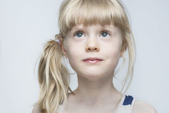 Noa (Erik de Klerck) Tags: lighting white beauty face glamour eyes child headshot blond 70200 clamshell clamshelllighting