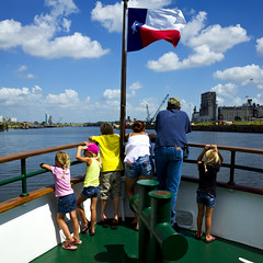 Down the Ship Channel (7) (momentspause) Tags: people woman man kids children texas flag houston denim ricoh ricohgr shipchannel