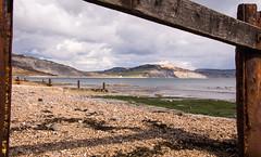 Lyme Bay (Joe Dunckley) Tags: uk sea england cliff beach landscape sunny dorset groyne lymeregis englishchannel jurassiccoast lymebay westdorset
