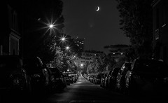 Paris by Night... (::nicolas ferrand simonnot::) Tags: street light moon white black paris night vintage lens photography japanese prime aperture 10 mount m42 manual 58mm blades   2016 mamiyasekor ƒ8 ƒ17