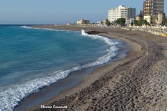 Rodos beach (Eleanna Kounoupa) Tags: blue sea water islands sand waves greece beaches rodos      dodecaneseislands