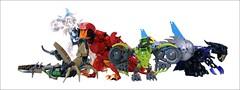 Elemental Creatures (...The Chosen One...) Tags: lego creatures bionicle elemental moc akida terak uxar melum ketar ikir