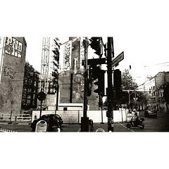 Scooter Urban Jungle New Babylon Traffic Traffic Lights Black&white Lerone-frames Berliner Ansichten Faade Crossroads Crossing The Street (lerone) Tags: trafficlights blackwhite traffic scooter urbanjungle crossroads faade crossingthestreet newbabylon berlineransichten leroneframes
