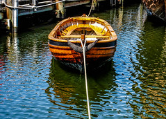 row row row your boat (-gregg-) Tags: old water boat rope row reflction