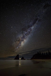 Glasshouse Rocks at night || Narooma
