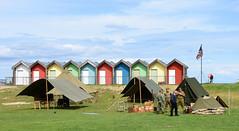 Blyth Battery open day and beach huts (DavidWF2009) Tags: northumberland beachhuts reenactors blyth blythbattery