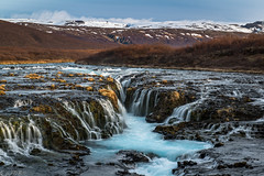 Blue on blue: Brarfoss (Bill Bowman) Tags: morninglight iceland sland goldentriangle brarfoss bruarfoss brarriver
