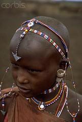 Kenya. A Masai boy wearing beaded jewelry,  Amboseli National Park // Dave Bartruff (mike catalonian) Tags: africa portrait color male face children kenya jewelry masaai davebartruff