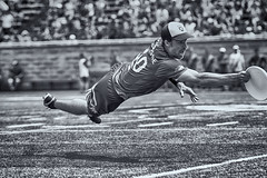 Catch of the Game (Danny VB) Tags: summer blackandwhite newyork sport photography photo ultimate montreal dive royal july empire catch frisbee ultimatefrisbee blackandwhitesports audl