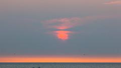 Sunset Dutch Coast / Zonsondergang Nederlandse Kust (tribsa2) Tags: sunset sea sky cloud seascape clouds seaside zonsondergang shoreline nederland noordzee wolken zee ciel northsea cielo nubes nuage nuages sunrisesunset crpuscule nordsee zon nube merdunord wolk zeegezicht canoneos5dmarkii nederlandvandaag canonnl canonef70300mmf456lisusm