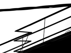 Railings on the Roof - Abstract B&W (zeevveez) Tags: bw abstract canon roofs zeevveez