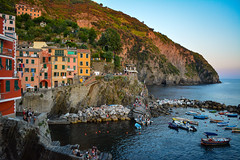 DSC_0290 (chriswalts) Tags: ocean travel sunset italy holiday cinqueterre