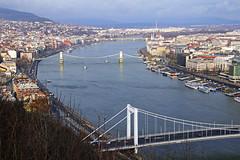 Budapest bridges (Andrey Sulitskiy) Tags: hungary budapest danube