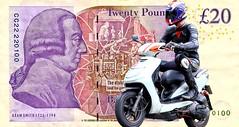 Twenty pound note. (driver Photographer) Tags: honda ktm triumph motorcycle yamaha driver suzuki daytona ducati motoguzzi kawasaki leathers buell aprilia simson cagiva husqvarna dainese bmv