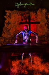 Esqueleto (LIGHTMAGINATION) Tags: longexposure light lightpainting luz make up painting skull luces noche long exposure uv esqueleto nocturna nocturnas exposicion larga