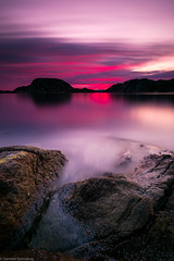 Sunset (Steinskog) Tags: sunset sea sky water clouds rocks long exposure colours
