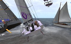 OD65 @NYC - SweetPea in the way! (vivipezz) Tags: nyc sailing sl secondlife od65