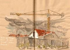 Au pied du pont Valentr (bigoudene46) Tags: cahors croquis bigoudene46 dessinsurlevif
