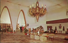 Hotel Camino Real, Ciudad Juarez, Chih (SwellMap) Tags: architecture vintage advertising design pc 60s fifties postcard suburbia style kitsch retro nostalgia chrome americana 50s roadside googie populuxe sixties babyboomer consumer coldwar midcentury spaceage atomicage