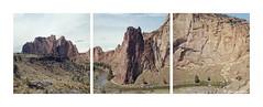 Triptych Of Smith Rock (Daiku_San) Tags: film oregon mediumformat triptych ishootfilm hasselblad500cm usetheforce colorfilm smithrockstatepark kodakektar100 epsonv500 carlzeissplanarct8028