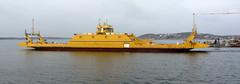gullmaj (helena.e) Tags: water yellow gul ferrie frja vstkusten workingonasunday cker helenae gullmaj