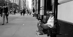 A street beggar in NYC (Pordeshia) Tags: nyc newyorkcity people newyork manhattan 5thavenue beggar panhandler