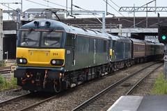 Dyson at the Double: Class 92s at Nuneaton (The Railway Journal) Tags: mark gb locomotives sleeper locos testrun caledonian nuneaton 1s srps serco class92 gbrf 5z93 deadintow