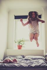 7 months (Marta A Orlowska) Tags: girls home kids children fun jump jumping bed movement bedroom awesome daughters havingfun twogirls beingkids