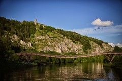 Altmhl (dannicamra) Tags: bridge sky cliff water river germany landscape bavaria nikon himmel brcke fluss landschaft felsen altmhl d5100