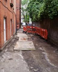 IMG_20160617_212741 (Carol B London) Tags: tarmac courtyard charcoal e1 wedge sgc ids stepney londone1 stepneygreen newlayout newsurface charcoalbricks steneygreencourt wedgeengineering