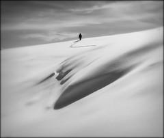 Cammina piano... (openfieldtumba) Tags: white mountain snow black nature monster alone natura silence neve montagna mostro silenzio valsassina artavaggio