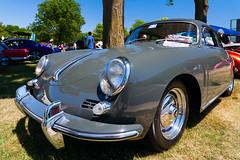 1962 Porsche 356B Karmann notchback (hz536n/George Thomas) Tags: summer copyright canon michigan porsche canon5d flint carshow karmann 356 356b notchback 2016 ef1740mmf4lusm cs5 sloanmuseum sloanmuseumautofair