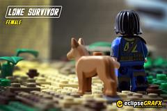 Lone Survivor (eclipseGrafx) Tags: lego accessories custom shelter printed survivor fallout brickarms eclipsegrafx