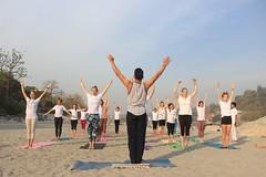 Yoga at Ganga Beach (rishikulyogshala2) Tags: life love beach yoga energy positive vibes universe ganga rishikesh positivity rishikul yogshala