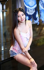DP1U1393 (c0466art) Tags: blue portrait baby hot girl beautiful smile face female night canon photo nice eyes asia long pretty pants jean legs sweet gorgeous taiwan short figure attractive charming 1dx c0466art