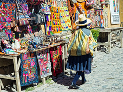 Ollantaytambo Market (cheryl strahl) Tags: peru southamerica souvenirs colorful dress crafts ngc cobblestones local custom ollantaytambo weavings sacredvalleyoftheincas urubambavalley