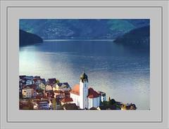 Switzerland (Steffi-Helene) Tags: travel vacation water schweiz switzerland suisse framed villages rahmen thruwindow busfahrt gewsser drfer durchsfenster