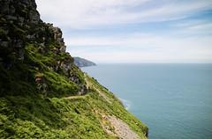 On the edge.. (Tall Guy) Tags: tallguy uk devon lynton thevalleyofrocks path
