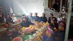 Gamelan Orchestra (scinta1) Tags: portrait bali man fruit religious women shrine village mask traditional pray praying decoration performance ceremony celebration temples oldwoman kampung hindu performers priests traditionaldress offerings topeng asli kintamani 2015 desa kedisan permangku pawintenan