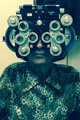 Granny (clear_eyed_man) Tags: scarymonster oculus granny eyeexam optemetry old lady
