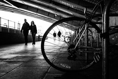 On the road again..... (tomabenz) Tags: street urban blackandwhite bw london monochrome bike noiretblanc sony streetphotography faming streetview sonya7rm2 a7rm2